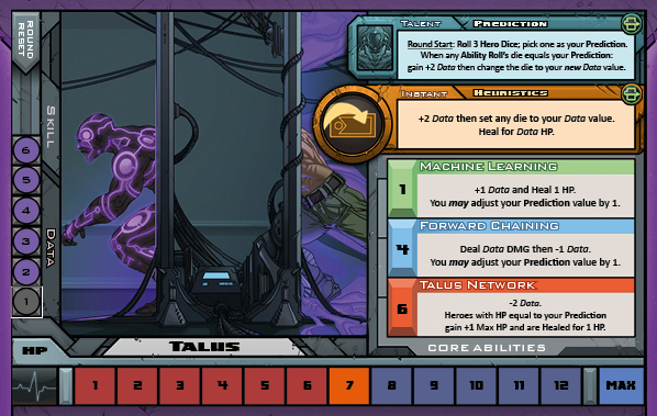 Talus Card for Raid Boss Cooperative Tabletop RPG
