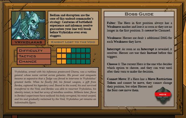 Vrykolakas Boss Card Back for Raid Boss Cooperative Tabletop RPG