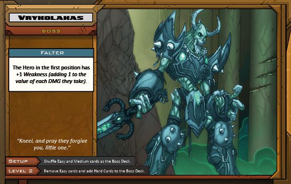Vrykolakas Boss Card for Raid Boss Cooperative Tabletop RPG