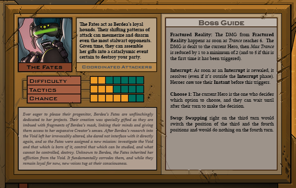 The Fates Boss Card Back for Raid Boss Cooperative Tabletop RPG