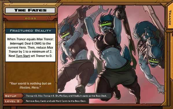 The Fates Boss Card for Raid Boss Cooperative Tabletop RPG