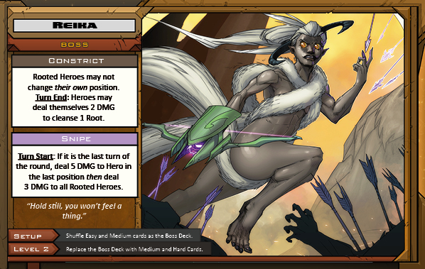 Reika Boss Card for Raid Boss Cooperative Tabletop RPG