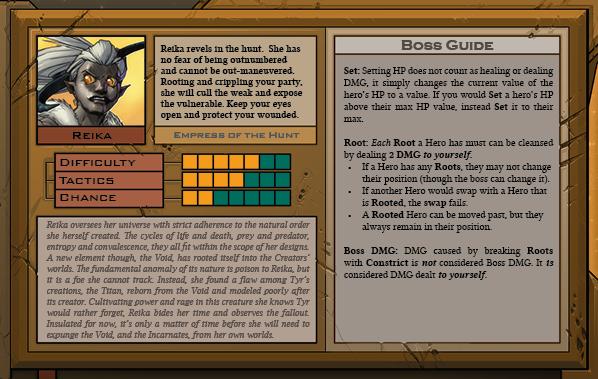 Reika Boss Card Back for Raid Boss Cooperative Tabletop RPG