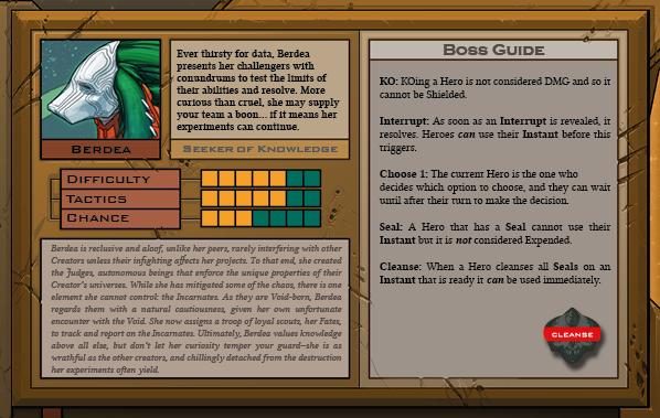 Berdea Boss Card Back for Raid Boss Cooperative Tabletop RPG