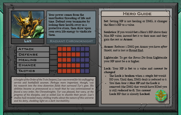 Lux Card Back for Raid Boss Cooperative Tabletop RPG