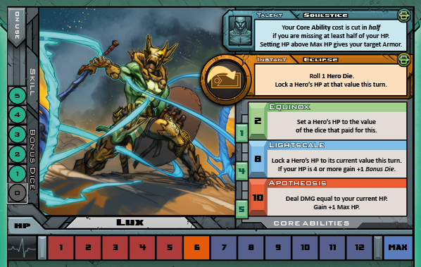 Lux Card for Raid Boss Cooperative Tabletop RPG