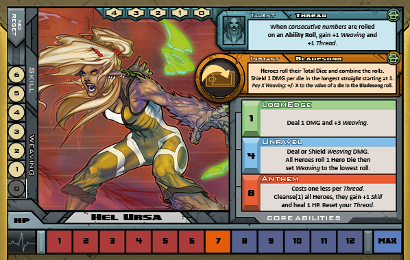 Hel Ursa Card for Raid Boss Cooperative Tabletop RPG