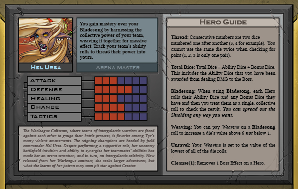 Hel Ursa Card Back for Raid Boss Cooperative Tabletop RPG