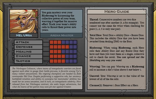 Hel Ursa Card Back for Raid Boss Cooperative Tabletop RPG