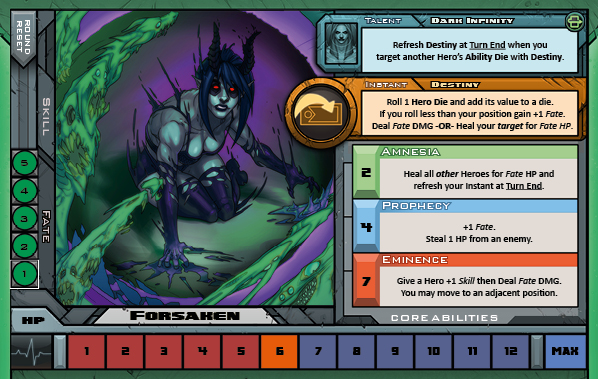 Forsaken Card for Raid Boss Cooperative Tabletop RPG