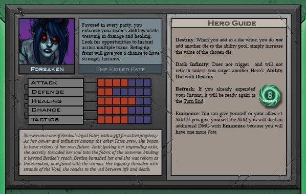 Forsaken Card Back for Raid Boss Cooperative Tabletop RPG