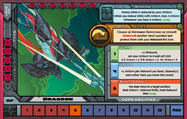 Dragoon Card for Raid Boss Cooperative Tabletop RPG