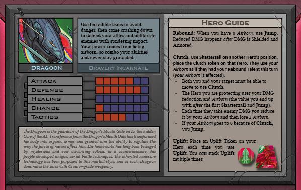 Dragoon Card Back for Raid Boss Cooperative Tabletop RPG