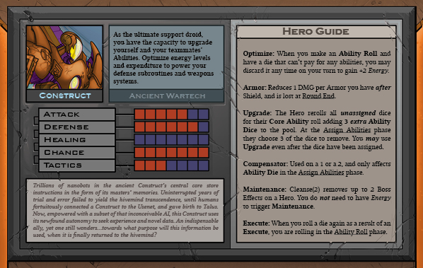 Construct Card Back for Raid Boss Cooperative Tabletop RPG