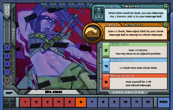 Blink Card for Raid Boss Cooperative Tabletop RPG