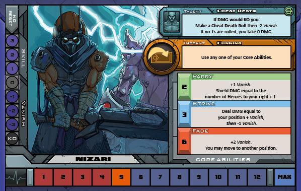 Nizari Card for Raid Boss Cooperative Tabletop RPG