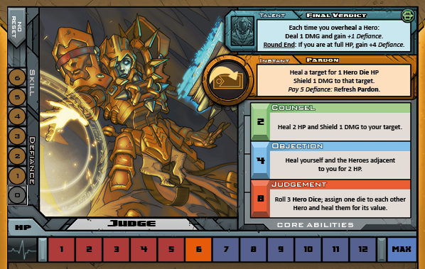 Judge Card for Raid Boss Cooperative Tabletop RPG
