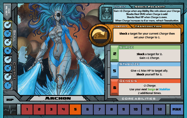 Archon Card Back for Raid Boss Cooperative Tabletop RPG