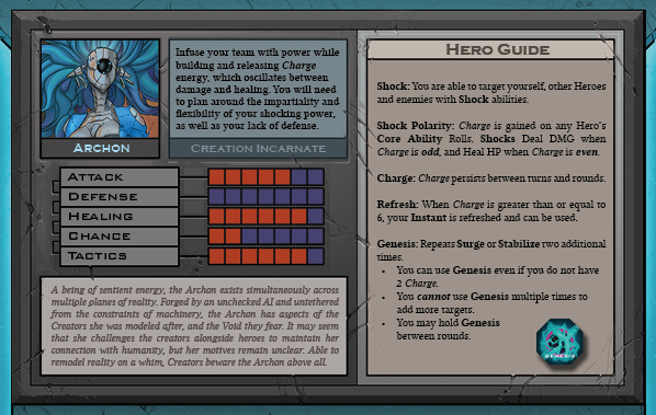 Archon Card for Raid Boss Cooperative Tabletop RPG