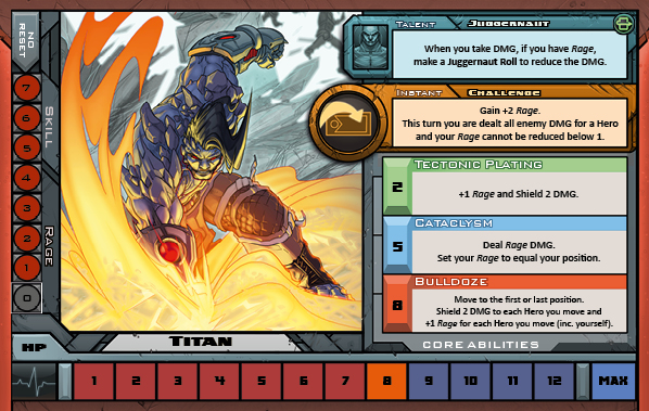 Titan Card for Raid Boss Cooperative Tabletop RPG