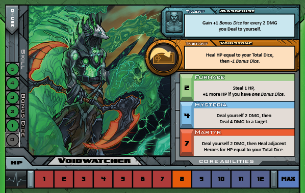 Voidwatcher Card for Raid Boss Cooperative Tabletop RPG