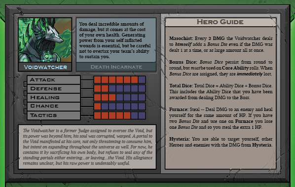 Voidwatcher Card Back for Raid Boss Cooperative Tabletop RPG