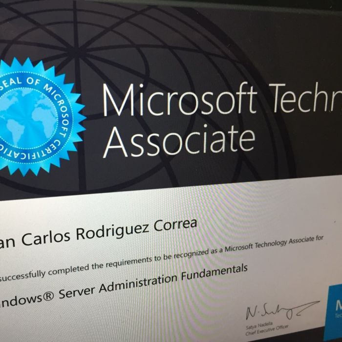 Certificación Microsoft – Windows Server Administration – MTA