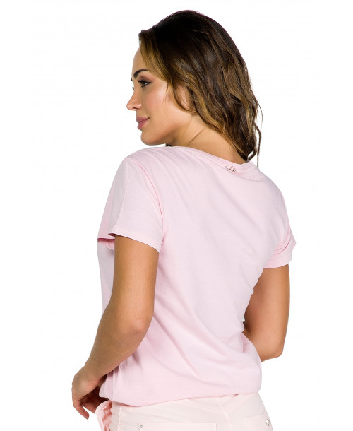 BLUSA INDEX T-SHIRT FEM DECOTE V