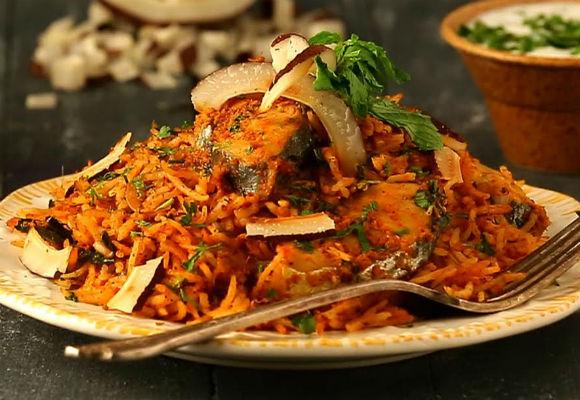 Easy fish biryani recipe surmai biryani ifn india food network india recipeslunchdinnernon veg lunchnon veg dinner forumfinder Images
