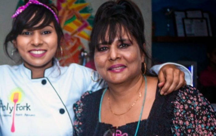 Angie D'Souza with her Mother