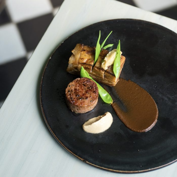 The tender Pork Belly at Slink & Bardot is one of Co-founder, Nick Harrisson's personal favourites on the menu