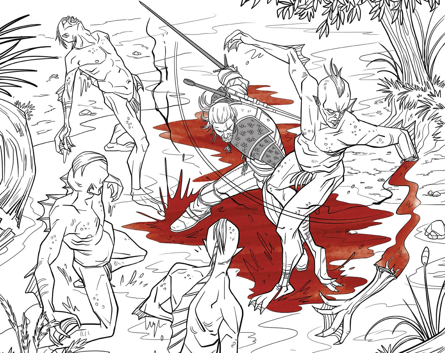 the witcher gets adult coloring book adaptation - Nude Coloring Book