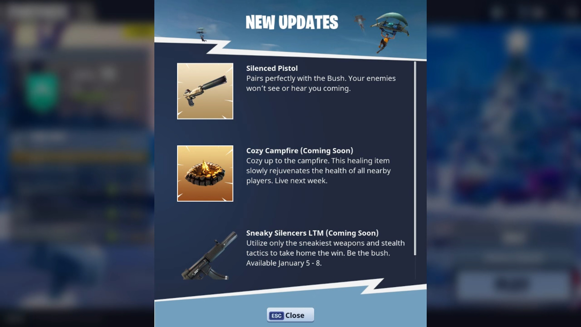 Fortnite Battle Royale Update Adds Silenced Pistol And Sneaky