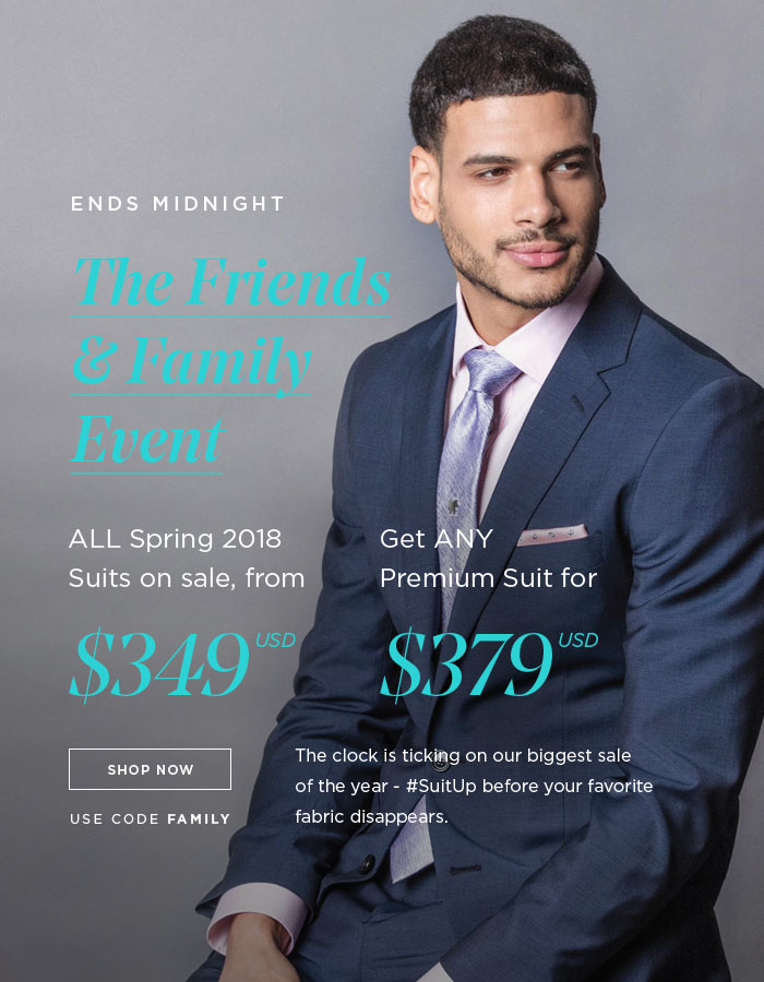 THE FRIENDS & FAMILY EVENT [SHOP NOW]