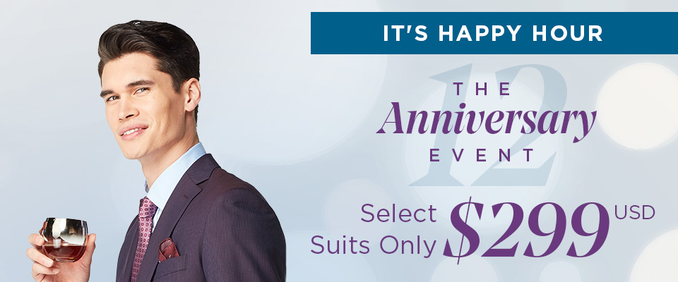 Happy Hour Suits for $299 USD