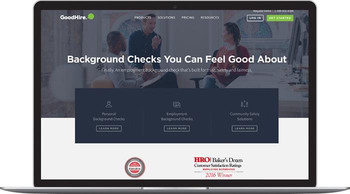 GoodHire Homepage