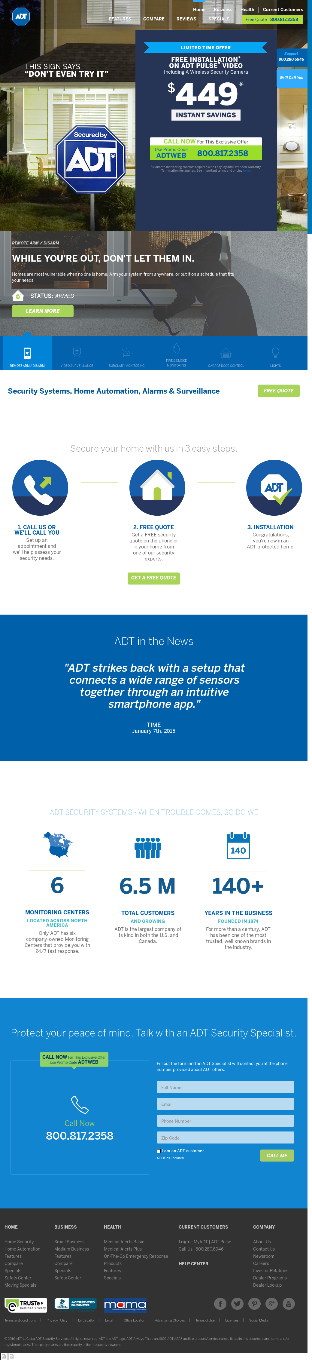 Adt Quote Adt Revenue Number Of Employees Funding News And Acquisitions