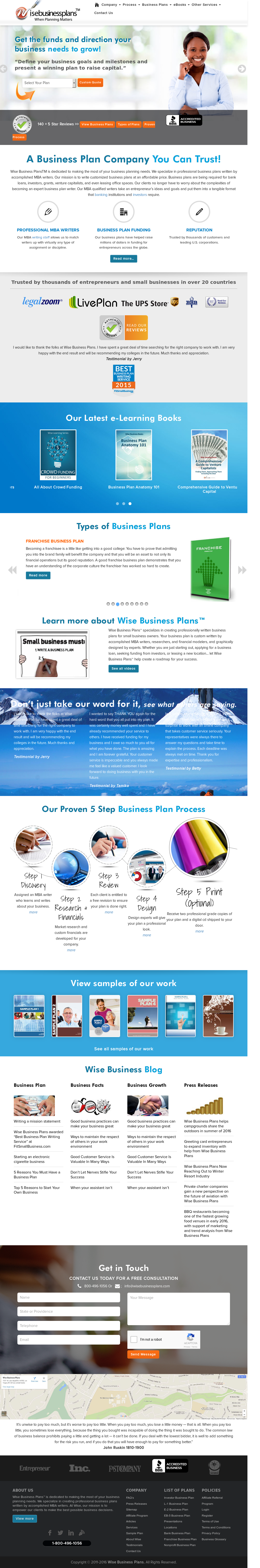 Wise Business Plans Competitors, Revenue and Employees