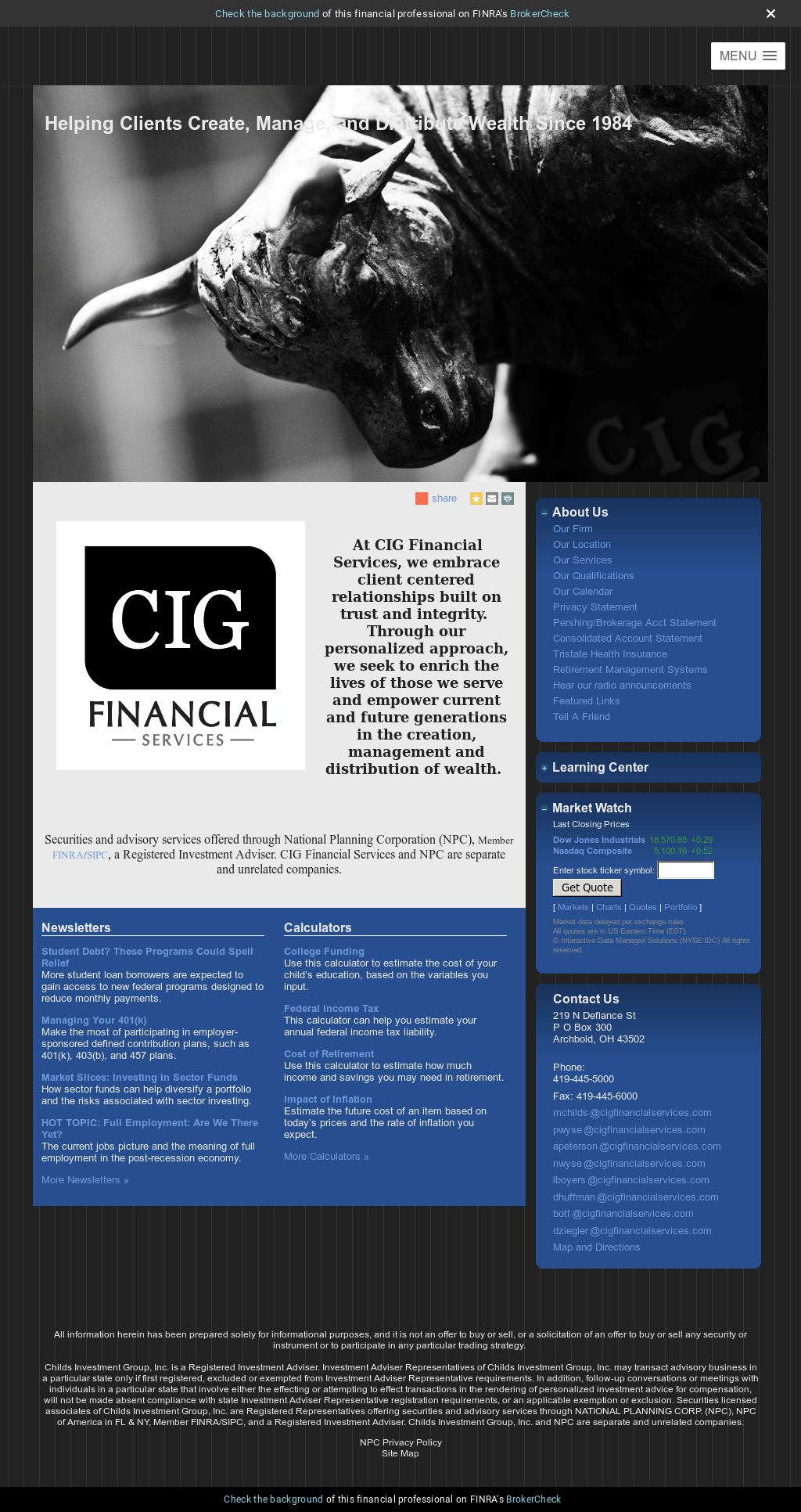 Cigfinancialservices Competitors, Revenue and Employees - Owler