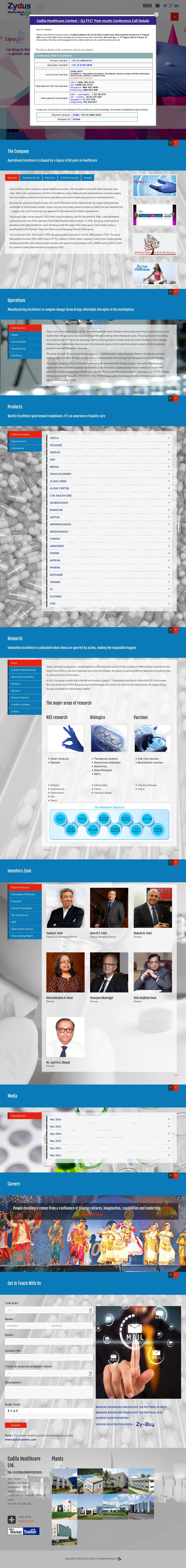 Zydus Cadila Competitors, Revenue and Employees - Owler Company Profile