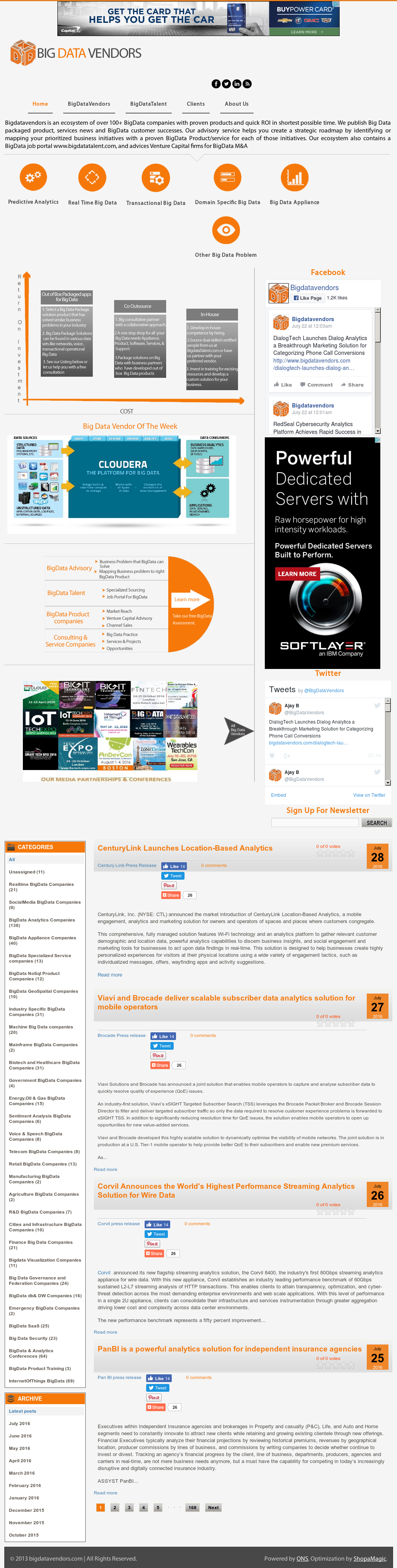 Big Data Vendor Competitors, Revenue and Employees - Owler