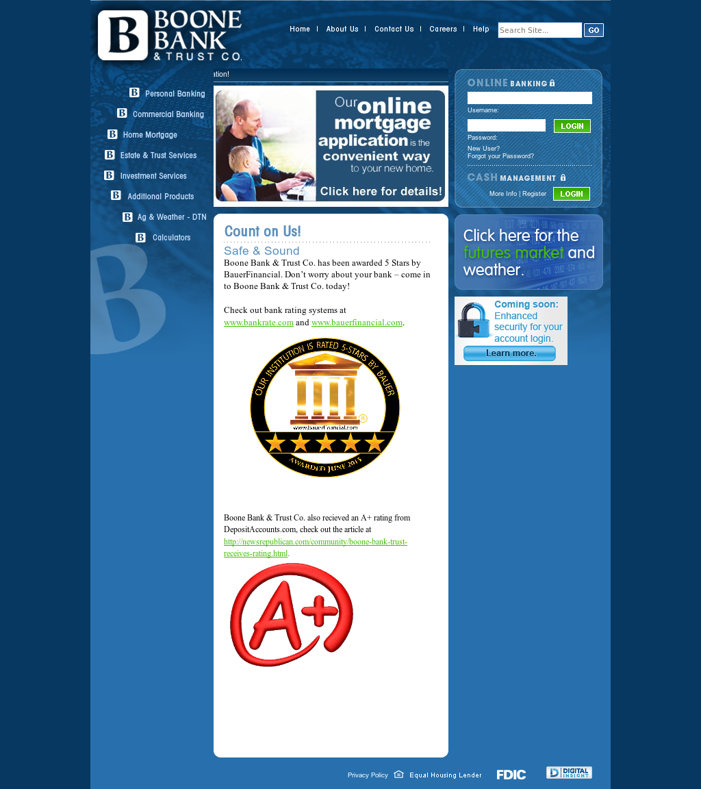 Boone Bank & Trust Company Competitors, Revenue and