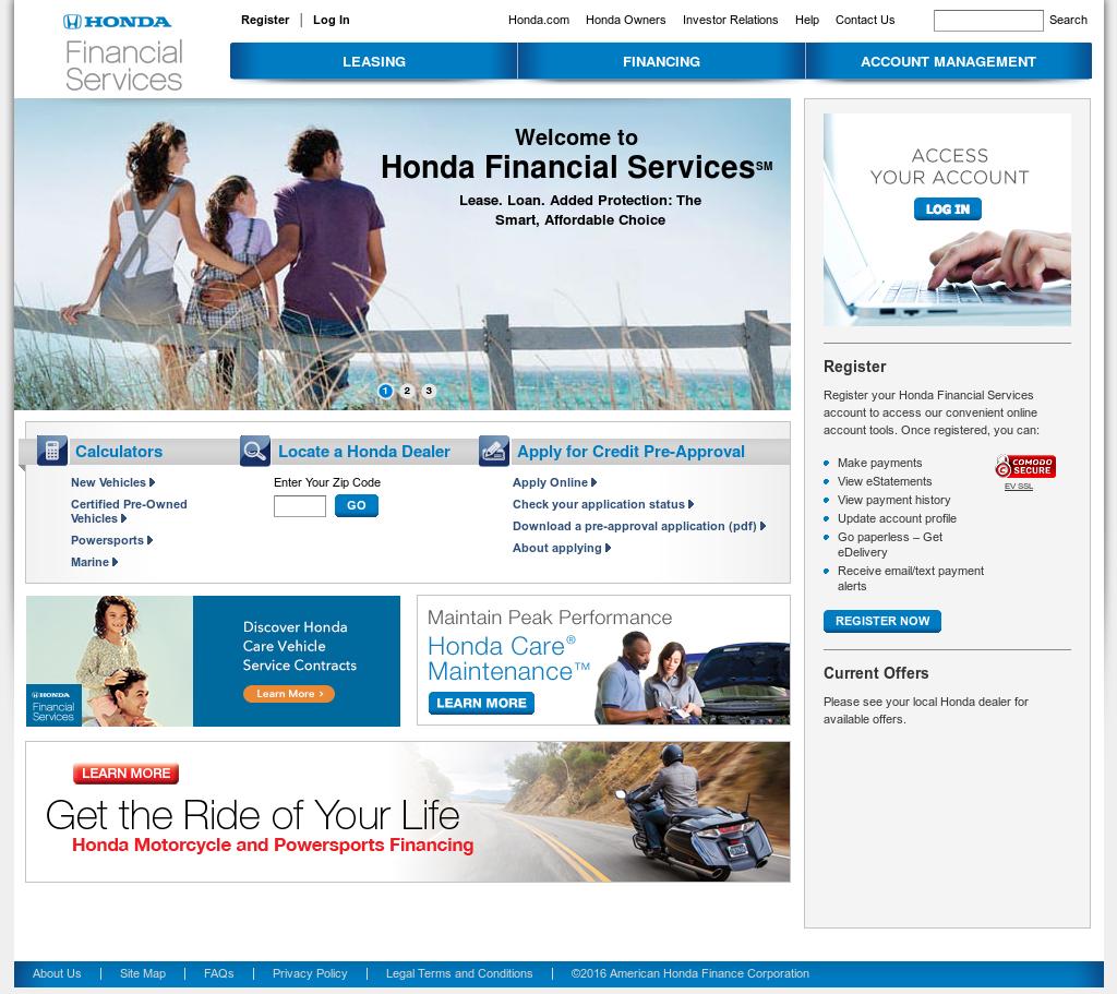 Hondafinancialservices Online Payment >> Hondafinancialservices Con Account Management Best