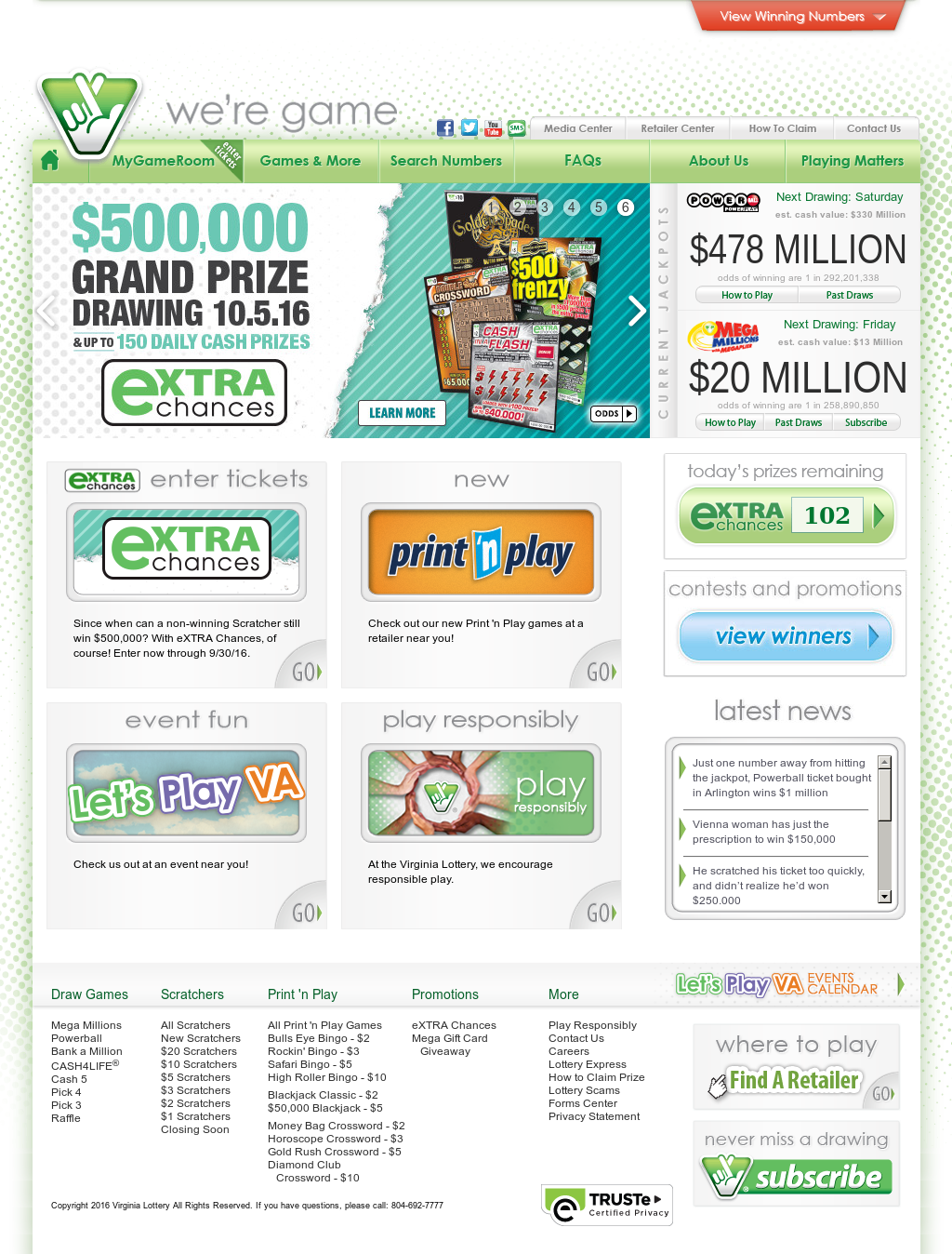 Virginia Lottery Competitors, Revenue and Employees - Owler Company
