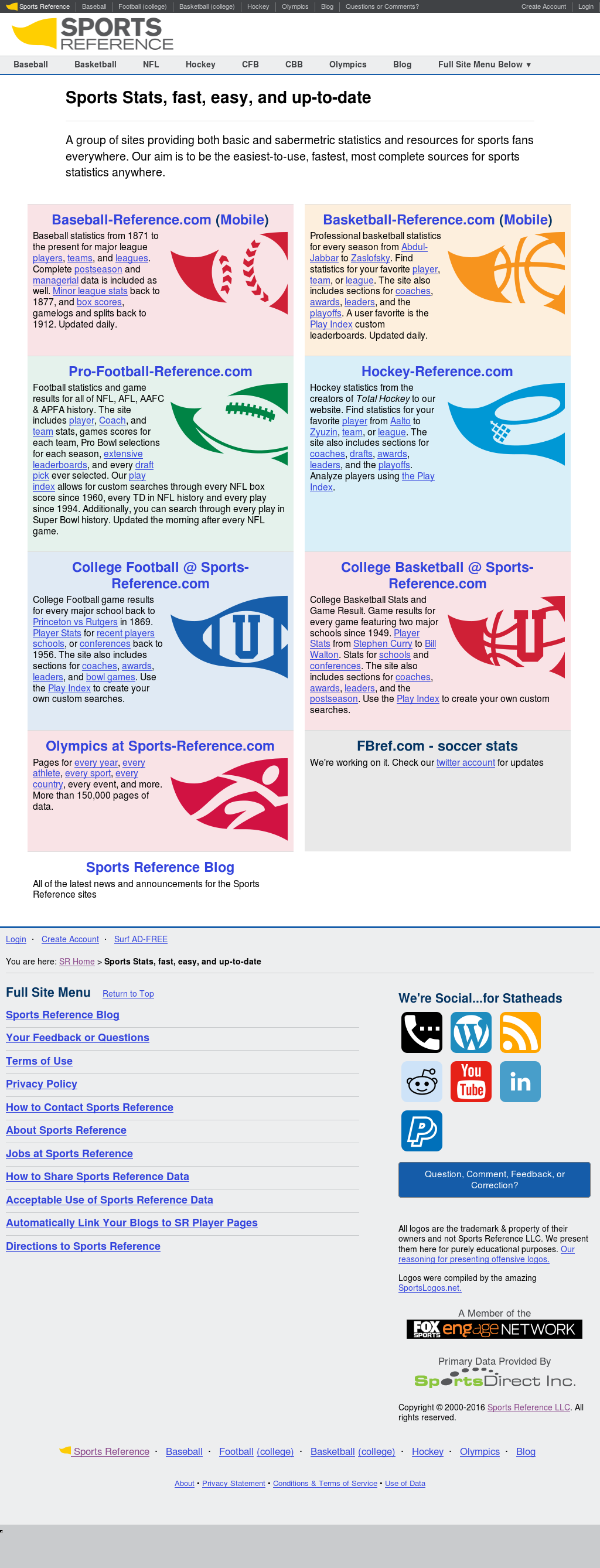 Sports Reference Competitors, Revenue and Employees - Owler