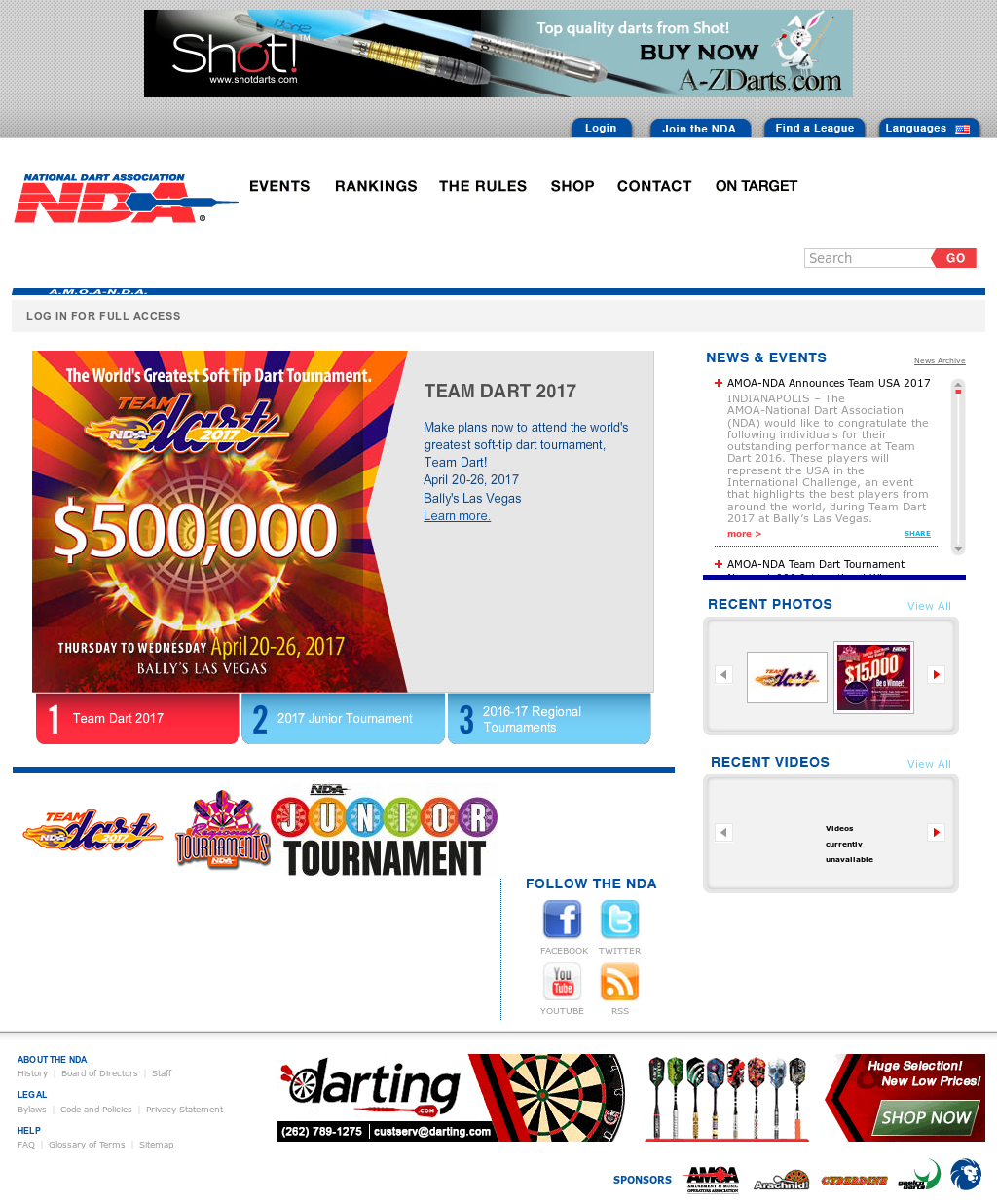 National Dart Association Competitors, Revenue and Employees