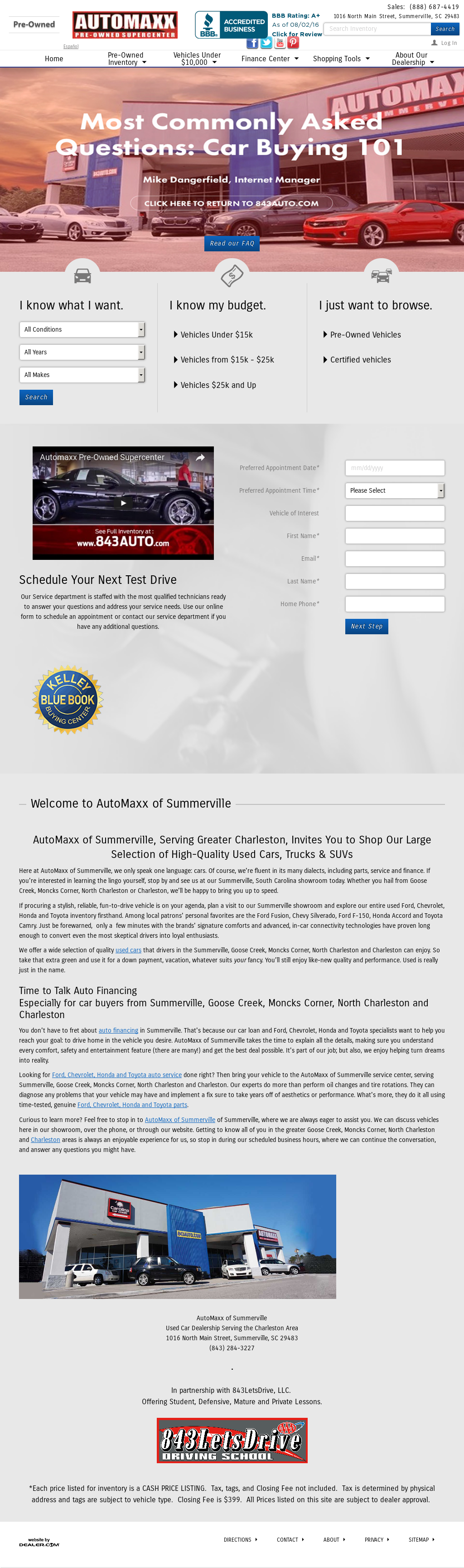 Car Dealerships In Summerville Sc >> Automaxx Of Summerville Competitors Revenue And Employees