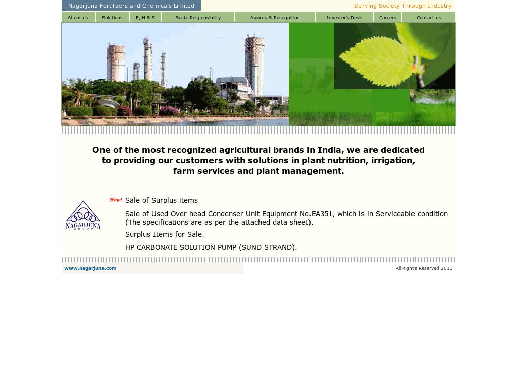 Nagarjuna Fertilizers Competitors, Revenue and Employees - Owler