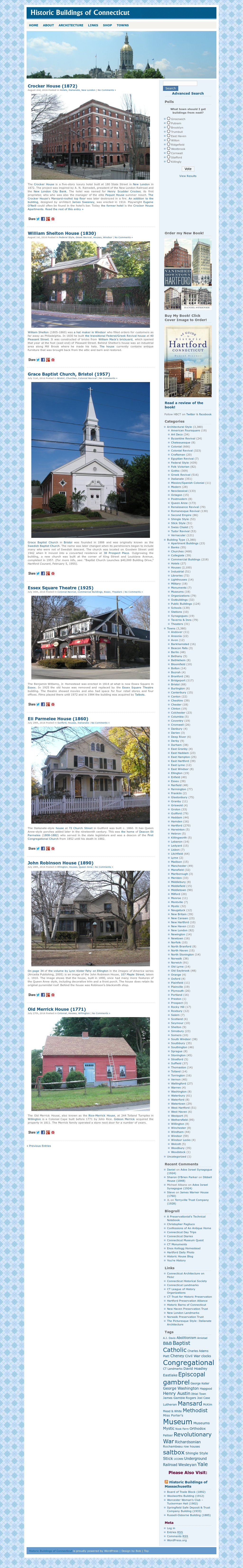 Historic Buildings Of Connecticut Competitors, Revenue and