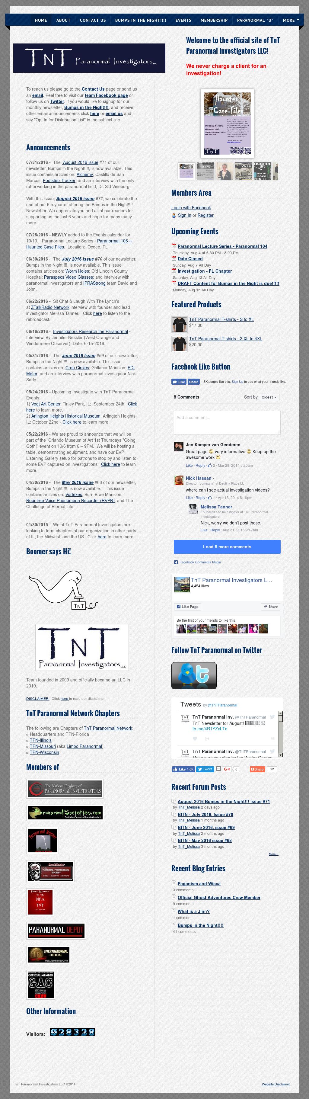 Tnt Paranormal Investigators Competitors, Revenue and